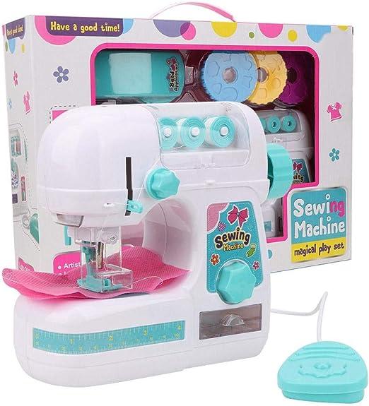 Simlug Caja de máquina de Coser para niños, Azul Blanco Pequeño ...