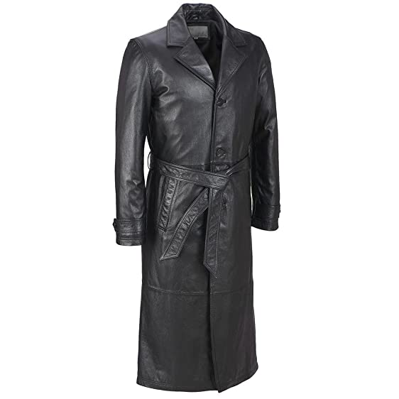 Wilsons Leather Mens Classic Leather Trench Coat at Amazon Men's ...