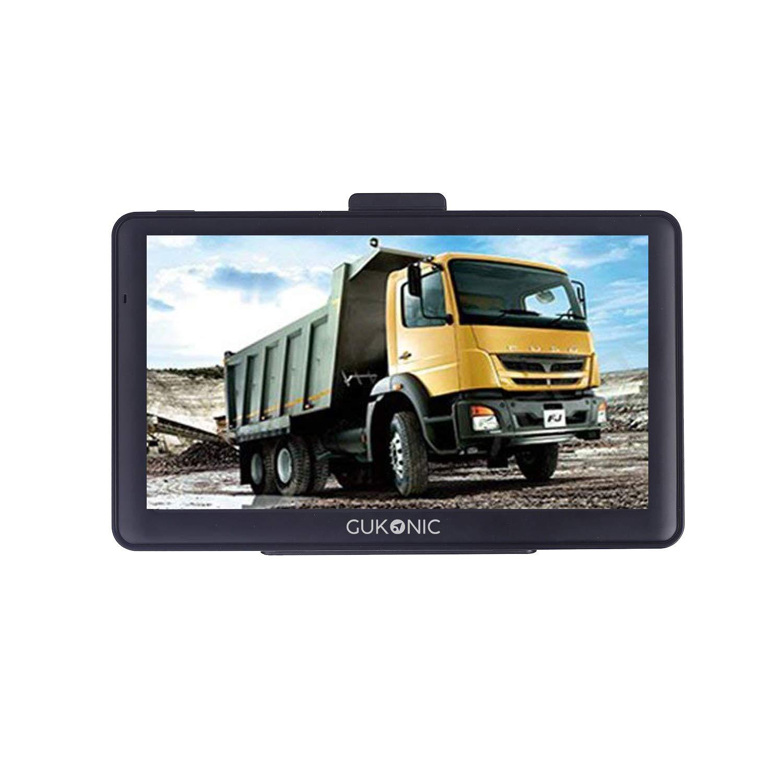 GUKONIC 7 Pollici GPS Navigatore Sattelitare per Camion con Mappe Precaricato Europa, 8GB,Caricatore a Doppia USB, Aggiornamento Mappe Gratuito a Vita
