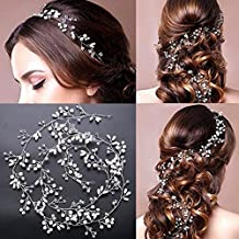 Wedding Headband Hair Vine Headdress Bridal Hair Vine Pearl Crystals Rhinestone Headpiece Party Jewelry 0.5m(19.7 inch)