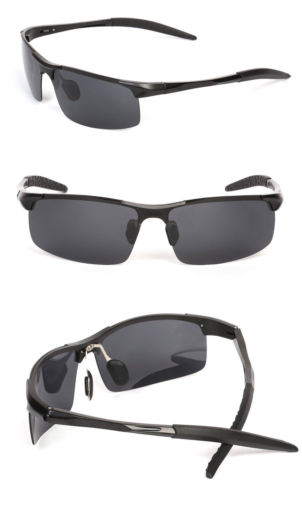 fab97f50bd Sunglasses - Ronsou Men Sport Al-Mg Polarized Sunglasses Unbreakable ...