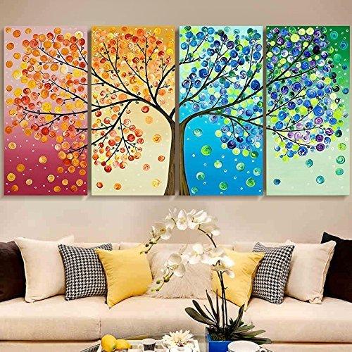 (Cross stitch, tree, four seasons, C0041)
