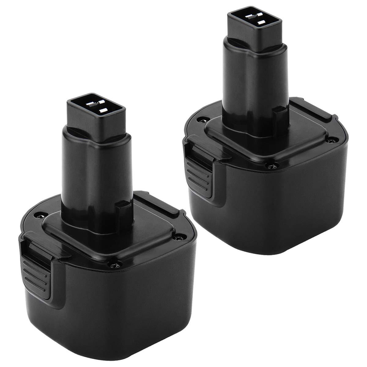 Shentec 2 Pack 3000mAh 9.6V Battery Compatible with Dewalt DW9062 DW9061 DE9036 DE9061 DE9062 DW9614 DW050, Ni-MH Battery
