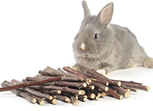 Niteangel Apple Chew Sticks for Chinchilla, Guinea Pigs, Hamsters, Rabbits, Parrots and Other Small Animals