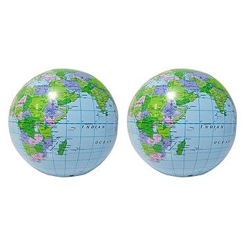 Yeahibaby Globo Inflable Globo Mapa de la Tierra Educativo ...