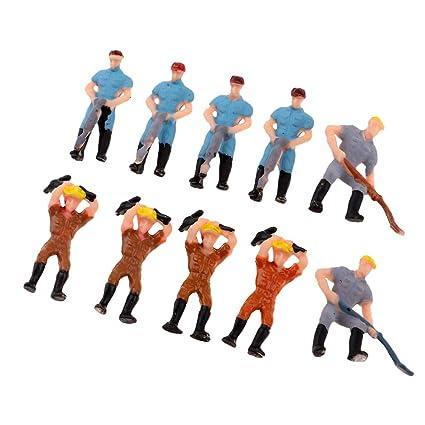 100pcs Train Mechanic People Figure Model Railway Scenery Layout 1:100 HO Scale
