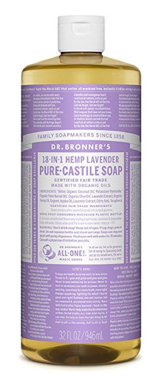Dr. Bronner's Pure-Castile Liquid Soap, Lavender, 32 Fluid Ounce 768