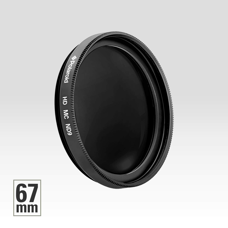Filtro de c/ámara densidad neutra 52 mm ND 0.9 color negro Polaroid Optics PL-FILND952