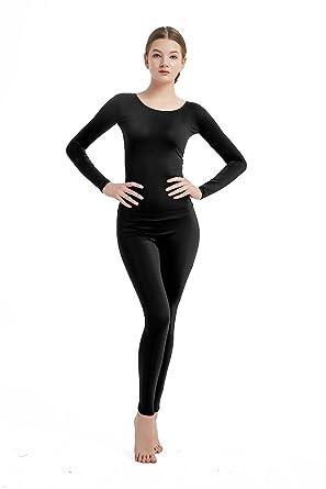 a1d7d6ea8f53 Amazon.com  Full Bodysuit Womens Long Sleeve One Piece Jumpsuit Lycra  Spandex Zentai Unitard  Clothing