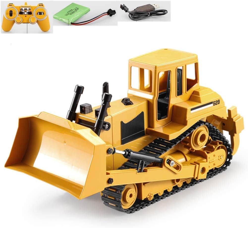 W-star Chargeuses sur pneus RC t/él/écommand/ée 1:20 Pelle Bulldozer v/éhicule de Construction de Jouets avec Les chargeurs de Pelle pivotante