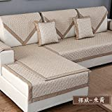 Foxi Linen Sofa Cover,Stylish And Simple,Multipurpose Non-slip Sofa Cushion Slipcover,Nordic Style Decorative Furniture Protector Sectional-M pillowcase 45x45cm(18x18inch)