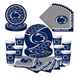 Penn State Nittany Lions Party Bundle - Plates, Cups, Napkins - Serves 8