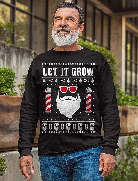 Santa Claus Beard Let It Grow Ugly Christmas Novelty Humor Xmas Holiday T-Shirt