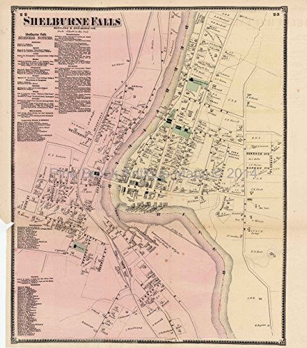 Antique Map Shelburne Falls Massachusetts Beers 1871
