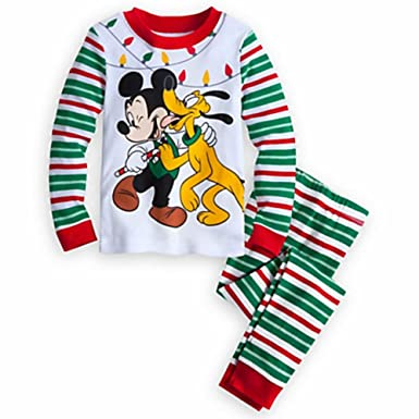 mickey mouse and pluto boys size 3 christmas holiday pajama set - Mickey Mouse Christmas Pajamas
