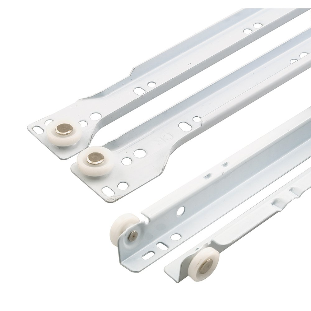 Prime-Line Products R 7214 Bottom Mount RV and Mobile Home Drawer Slides, 24 Set, White