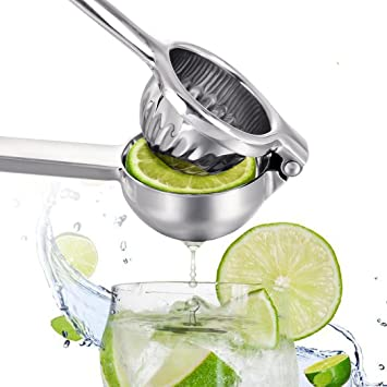 Lime Exprimidor, Premium Calidad metal amarillo limón exprimidor - exprimidor manual exprimidor frutas naranja limón tomate mano exprimidor máquina: ...