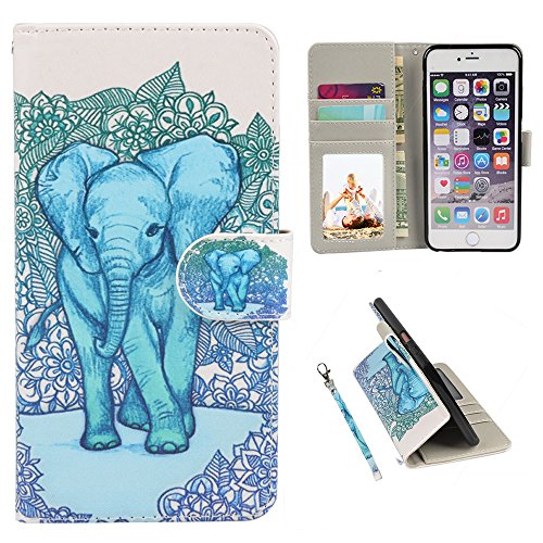 iPhone 6s Case, iPhone 6 Case, UrSpeedtekLive Premium PU Leather Funny Pattern Flip Wallet Case Cover Card Slots & Stand iPhone 6/6s 4.7 Inch (2065)