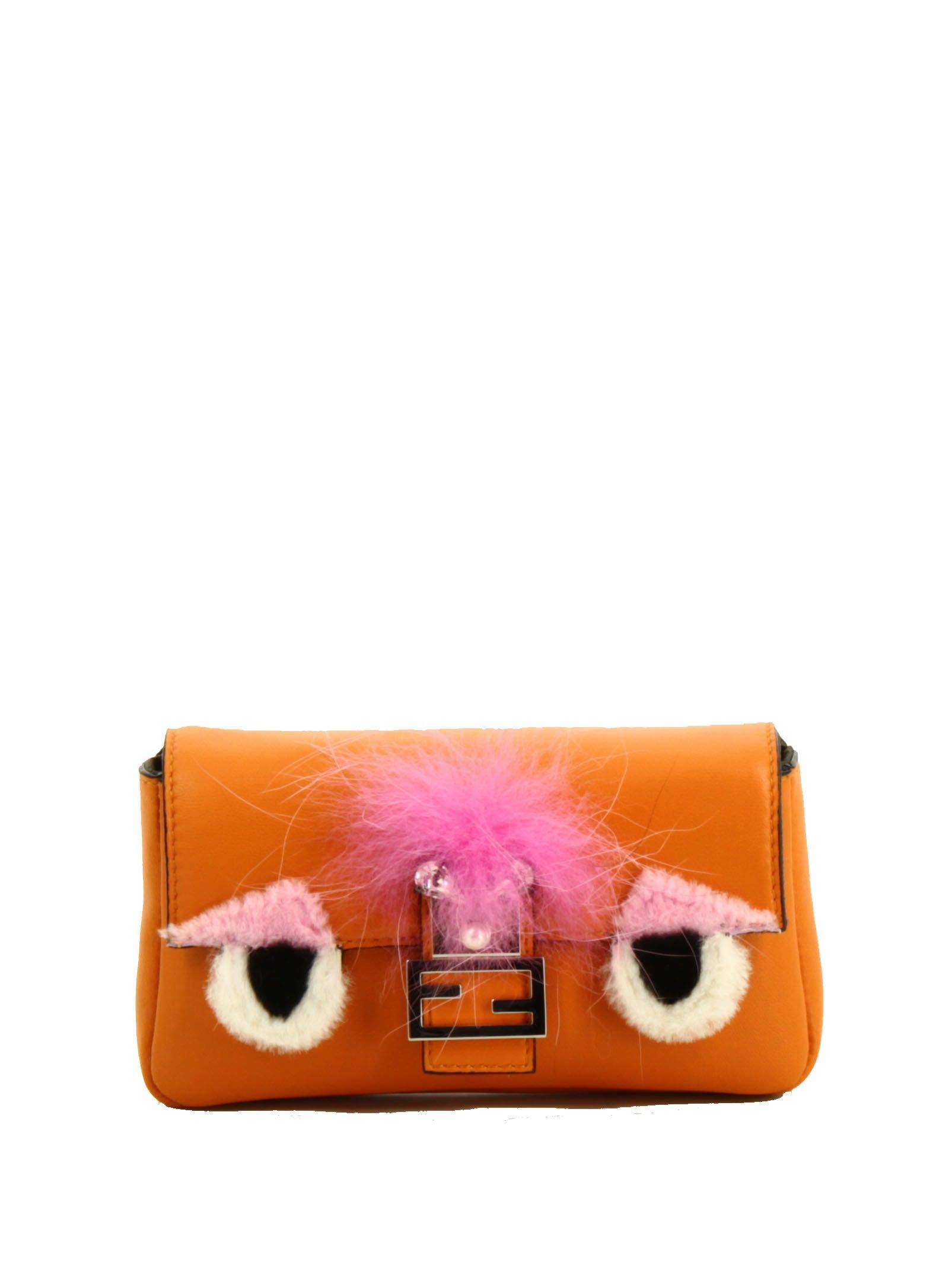 Fendi Women's 8M03543zqf0z6w-Mcf Orange Leather Shoulder Bag