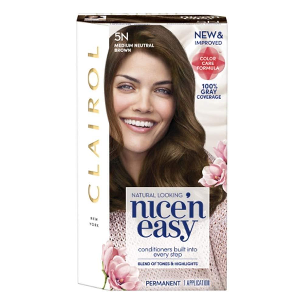 Clairol Nice'n Easy Permanent Hair Color Medium Natural Brown 5N (Pack of 6) by Clairol