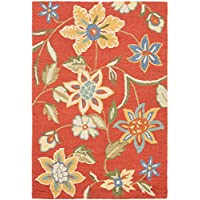 Safavieh Blossom Collection BLM673A Handmade Rust and Multi Premium Wool Area Rug (4 x 6)