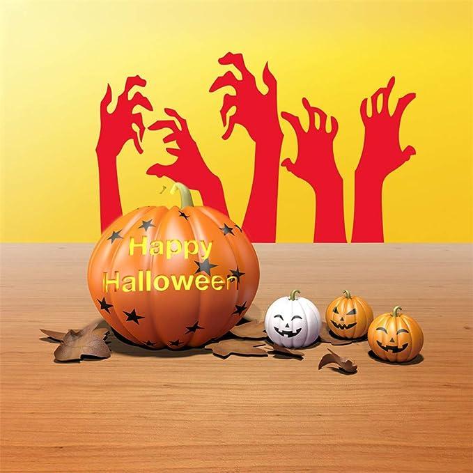 JiaMeng Decoración del hogar Feliz Halloween Fondo Etiqueta de la Pared Ventana decoración del hogar decoración de la Etiqueta Víspera de Todos los Santos: ...