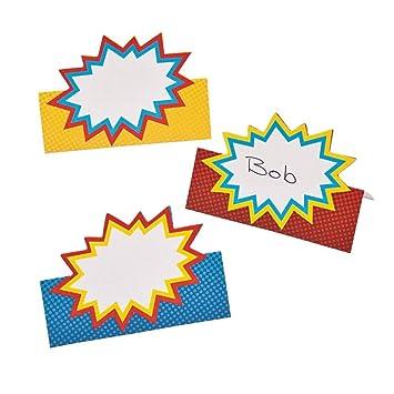 Amazon Fun Express Superhero Place Cards Toys Games