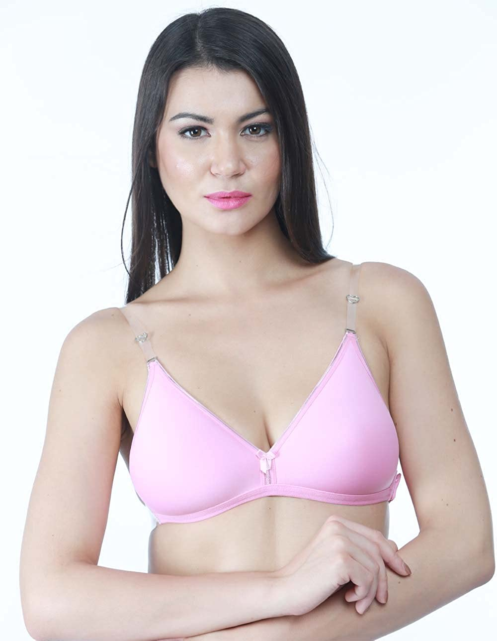 424388e1898ab Tipsy Women Polyester Pink Bra  Amazon.in  Clothing   Accessories