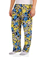 Despicable Me Minions Men's Licensed Sleep Pants Yellow with Gray Background (Small)