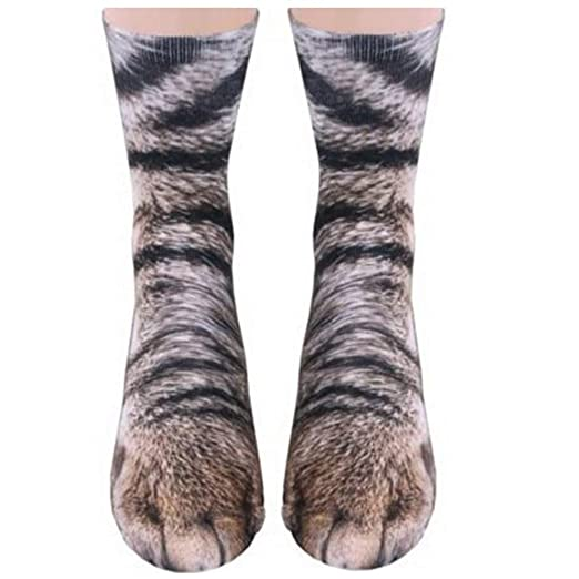 90814d61bc52 Amazon.com: Animal Paws Socks, NDLBS Unisex Adult Novelty Animal ...