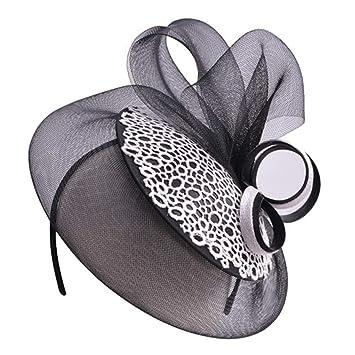 fd89fabf51c09 1Pcs Womens Ladies Hats Fascinators Race Day Kentucky Derby Church Wedding  Party Headband Bridal Headband T244
