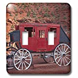 Navajo Nation, Monument Valley, stage coach at Gouldings Trading Post Light Switch Cover is made of durable scratch resistant metal that will not fade, chip or peel. Featuring a high gloss finish, along with matching screws makes this cover t...