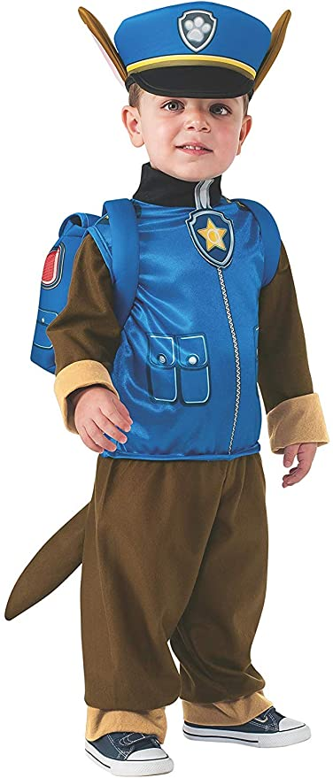 Boys Classic Chase Paw Patrol Dog Cartoon Book Day Fancy Dress Costume Outfit