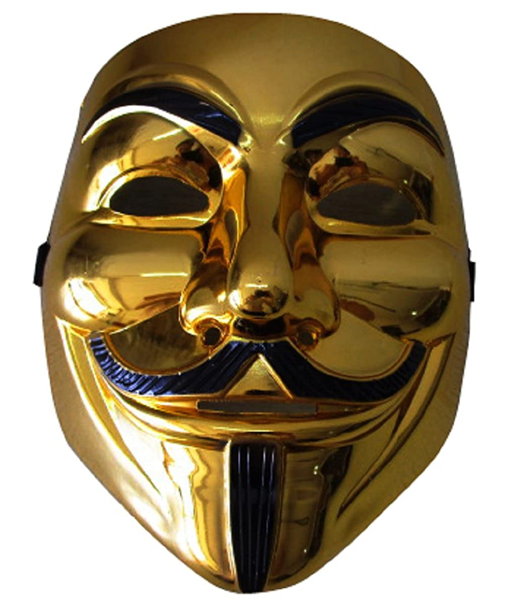 omiyacos Halloween cosplay Gold version V for Vendetta Mask Anonymous Guy Fawkes mask
