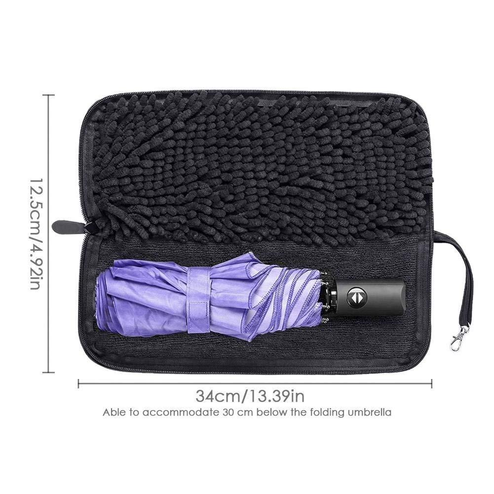 s/échage rapide de leau for aspirer la couverture de parapluie en f Durable Handheld Lightweight Exquisit Sac parapluie Stockpile /à Lhumidit/é absorbant leau Sac parapluie avec fermeture /à glissi/ère
