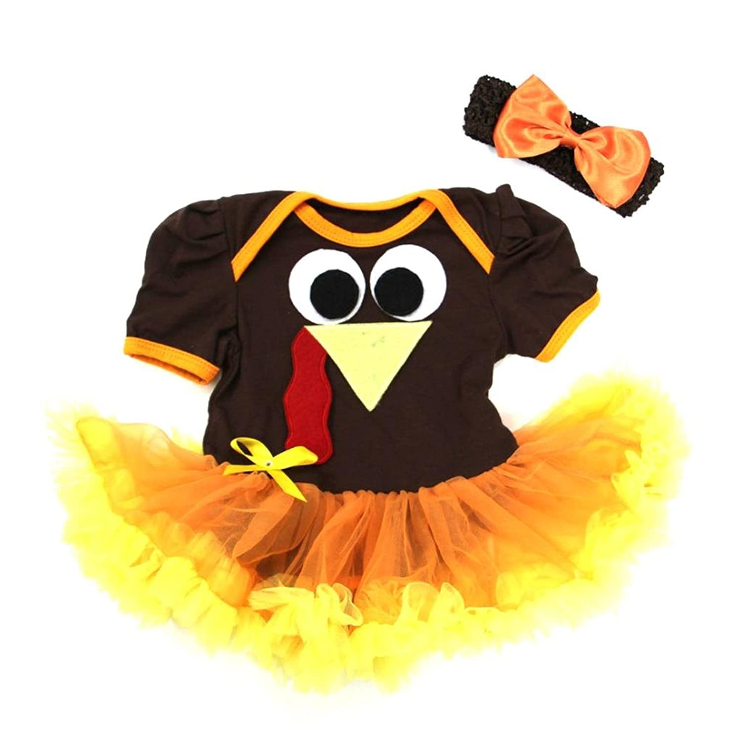 Baby Thanksgiving Turkey Bodysuit Tutu