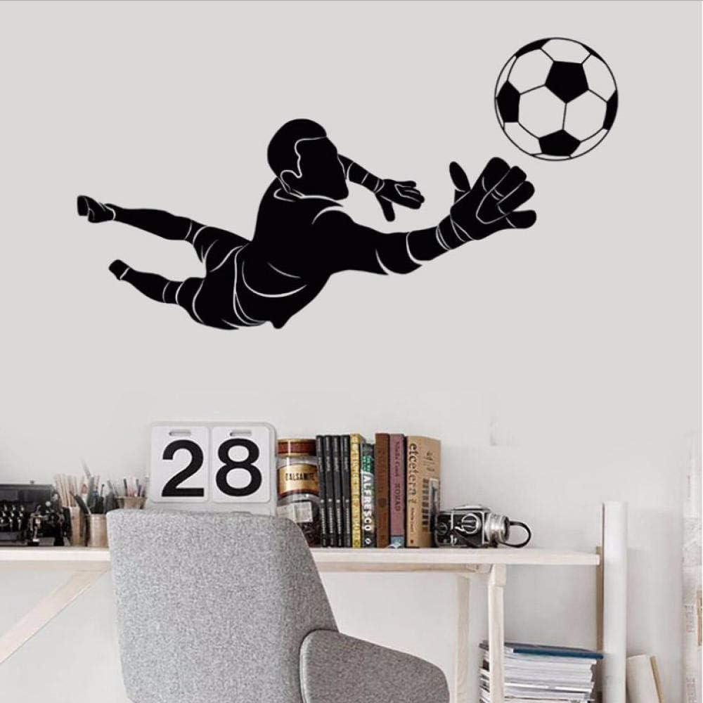 Sport Wall Sticker Removable Soccer Goalkeeper Player Wall Decal Kids Boys Room Decor Vinyl Sports Art Mural Wall Sticker 38X69Cm