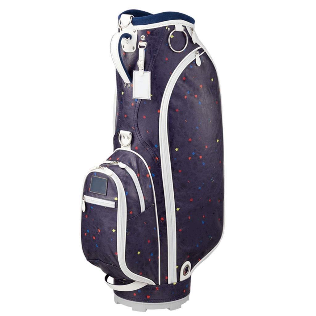 ゴルフクラブバッグ、軽量で持ち運び可能、防水素材、多色オプション happyL (Color : 青) 青