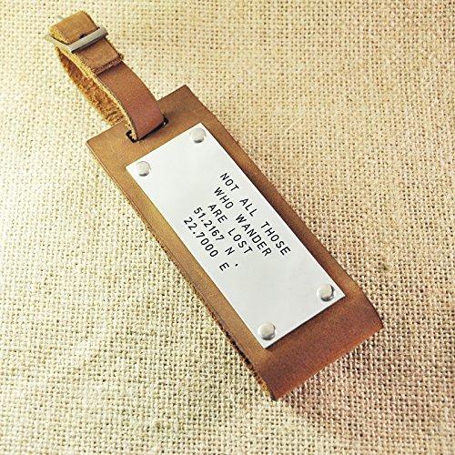 amazon com personalized leather luggage tag custom leather tag