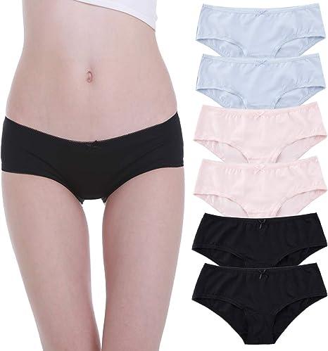 Falechay Braguita para Mujer Culottes Algodón Pack de 6 Bragas Hipsters: Amazon.es: Ropa y accesorios