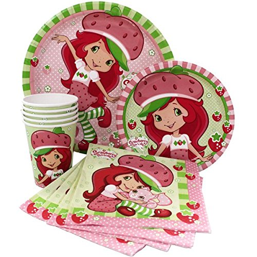 Strawberry Shortcake Party Express Pack for 8 Guests (Cups Napkins & Plates) ()