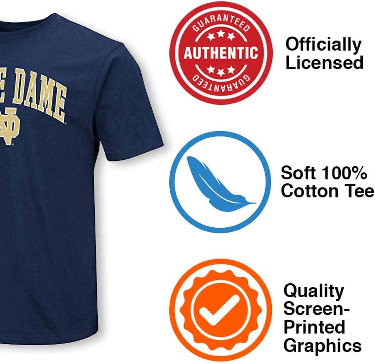 Blau 84/Notre Dame Fighting Irish Erwachsene Arch Logo T-Shirt Marineblau gro/ß