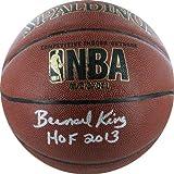 NBA New York Knicks Bernard King Autographed Basketball with ''HOF'' Inscription