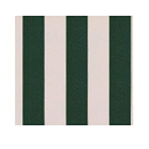"STRIPE Waterproof Canvas Awning Fabric Fabric WATERPROOF OUTDOOR Fabric 60"" (HUNTER GREEN/WHITE 5, YARDS)"