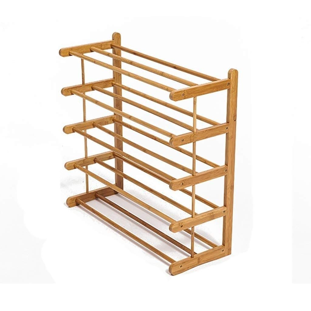 SCDXJ Shoe Rack - Simple and Creative Multi-Functional Economic and Practical Shoe Rack Dormitory Bedroom Solid Wood Storage Shelf Multi-Layer Assembly Simple Shoe Cabinet by SCDXJ
