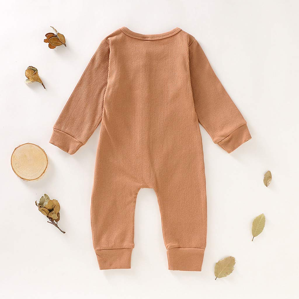 Baby Jumpsuit Infant Bodysuit Toddler Long Sleeve Cotton Warm Romper Kids Striped Elephant Outfits Clothes