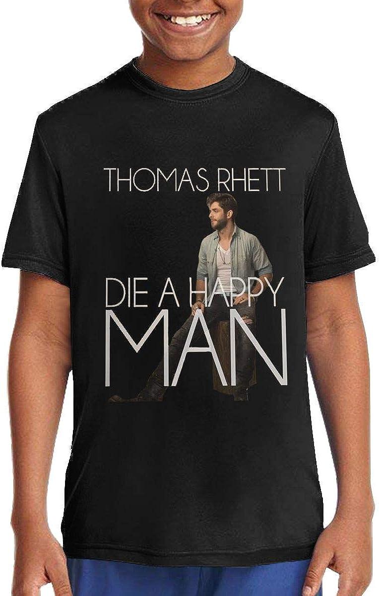 BWOWBDIWWQNGW Junior Thomas Rhett Summer Fashion Music Band Short Sleeves Summer T-Shirt Gift