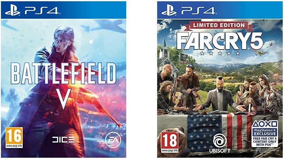 Battlefield V + Far Cry 5 Limited Edition - - PlayStation 4 [Importación inglesa]: Amazon.es: Videojuegos