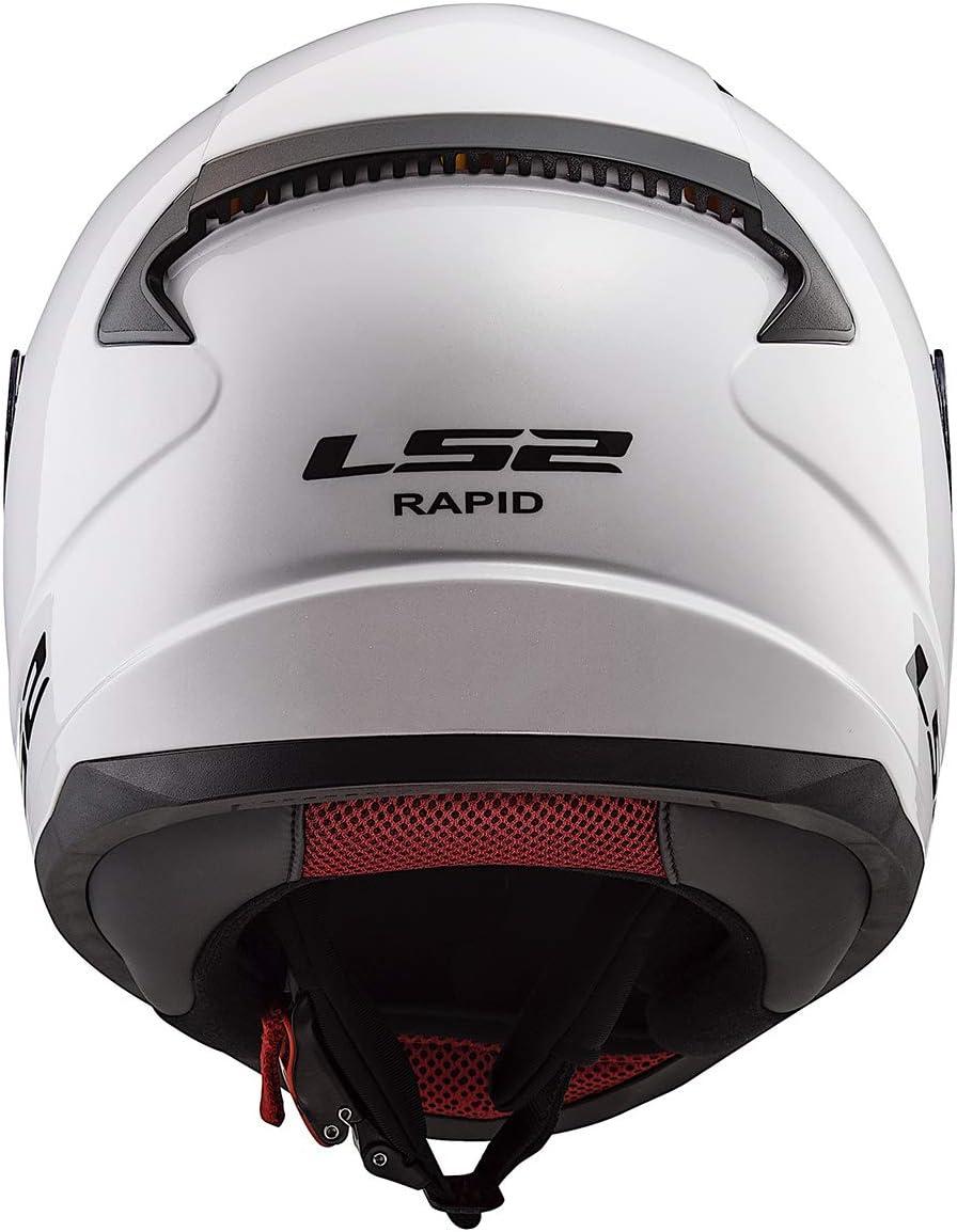 LS2 Helmets Rapid Mini Machine Helmet Gloss White - Youth Small