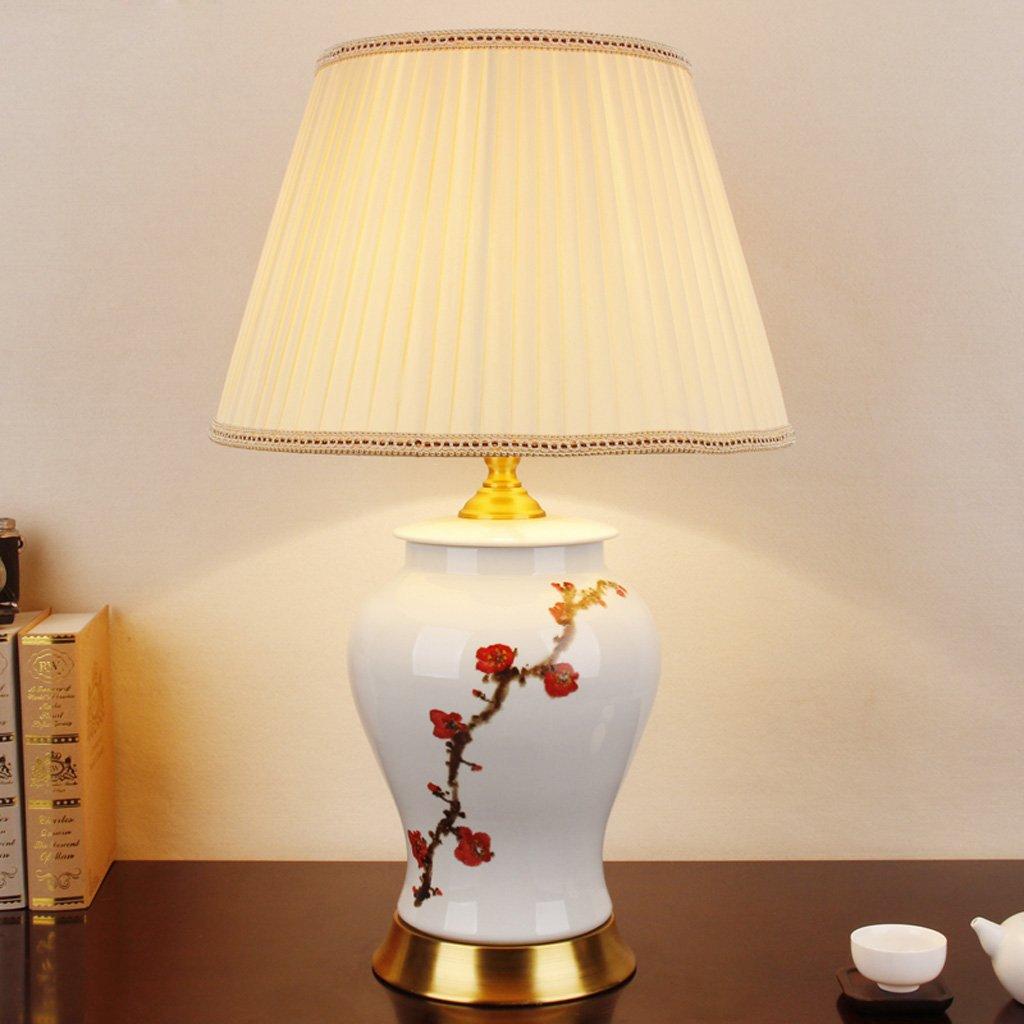 Moderne chinesische Keramik Tischlampe Nachttischlampe Klassische Klassenzimmer Wohnzimmer-Lampe